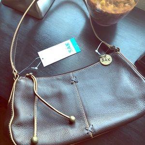 The Sak Brown Small Shoulder Hobo Bag